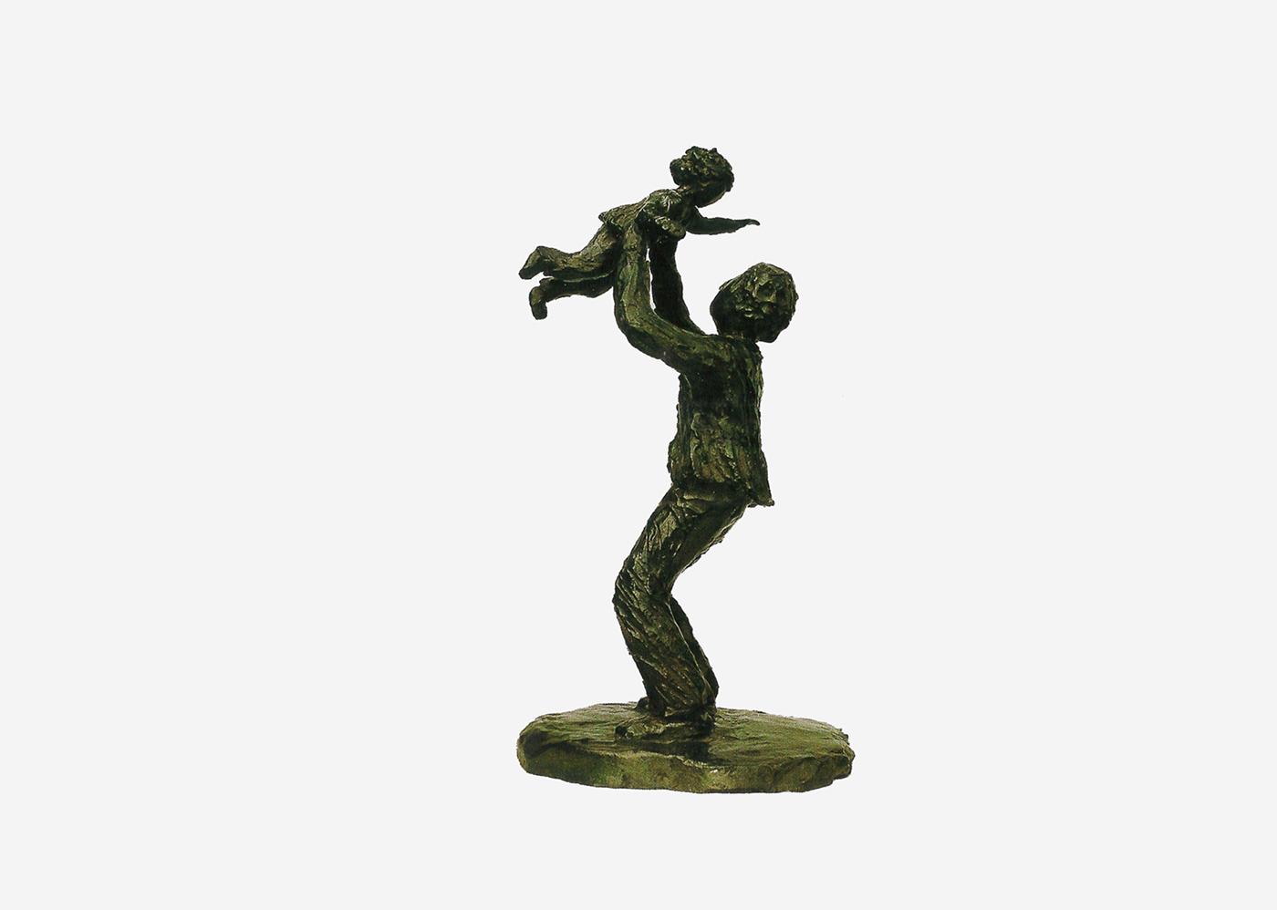 Isabelle Blanchard - le père et l'enfant (Bronze, commande publique)