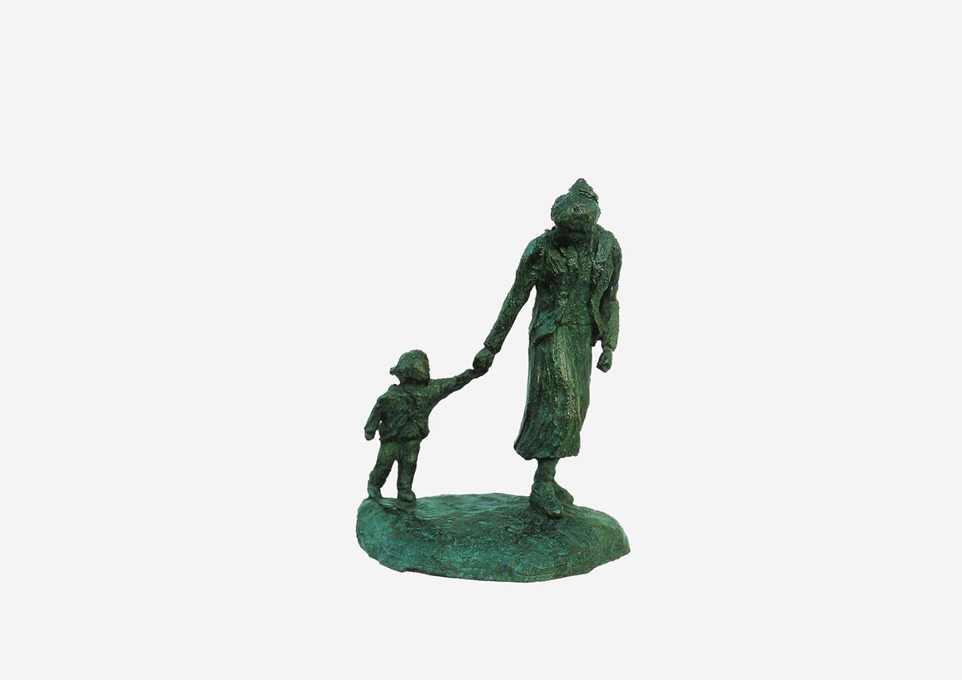 Isabelle Blanchard, sculpteur à Plérin - Tu viens ? Bronze