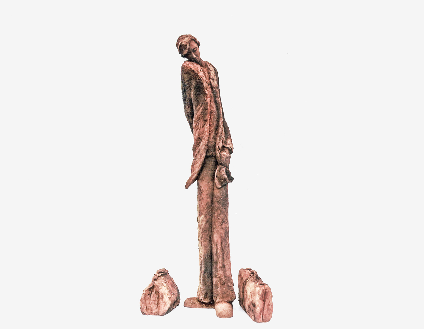 Isabelle Blanchard - Timide - sculpture en terre